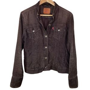 Levis Corduroy Brown Mock Collar Jacket